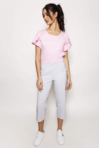 Kelly & Grace Weekend Trousers Grey / 8 Bengaline Crop Pants in Grey