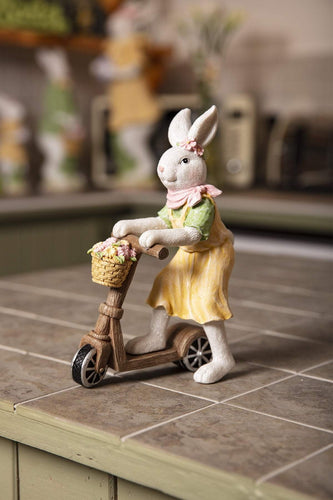 Carraig Donn HOME Easter Ornaments Betsy Bunny on Scooter