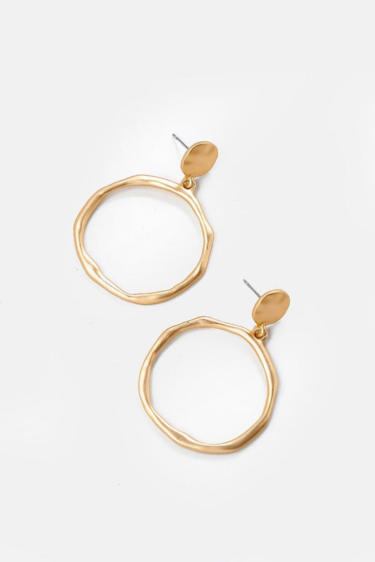 Soul Jewellery Earrings Gold Big Circle Gold Earrings