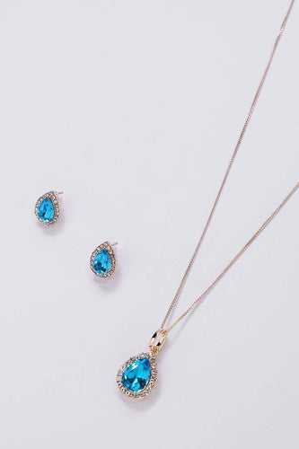 Soul Jewellery Necklaces Silver Blue Stone Necklace & Earring Set