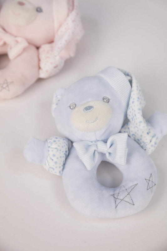 Carraig Donn HOME Rattle Blue Teddy Rattle in Gift Box