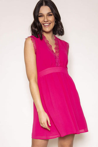 Ada Rowe Dresses Pink / S / Knee length Bonnie Dress in Pink