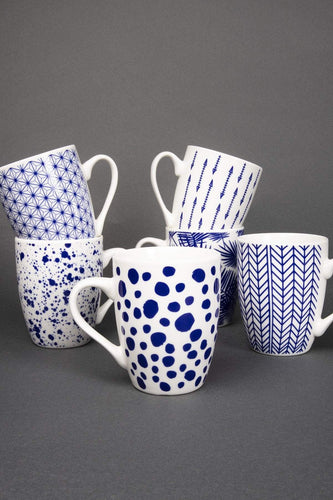 Newbridge Silverware Mugs Botanic Set of 6 Mugs