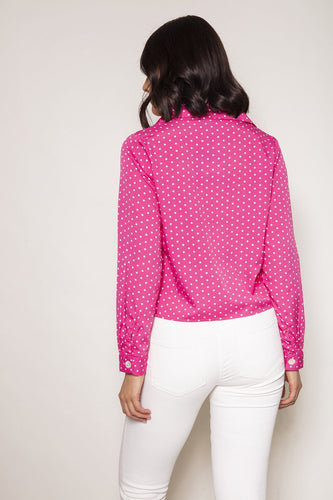Nova of London Tops Boxy Button Front Shirt in Pink