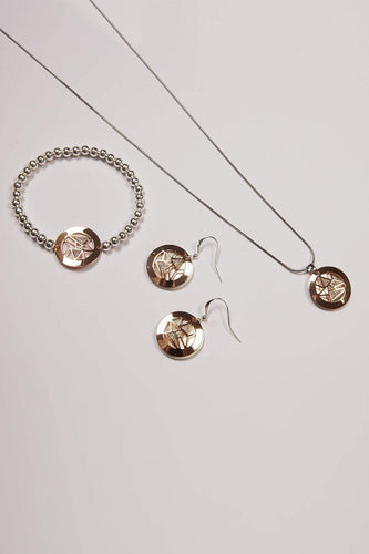 Joularie Necklaces Multi Brass Chain 3 Tone Glitter Necklace