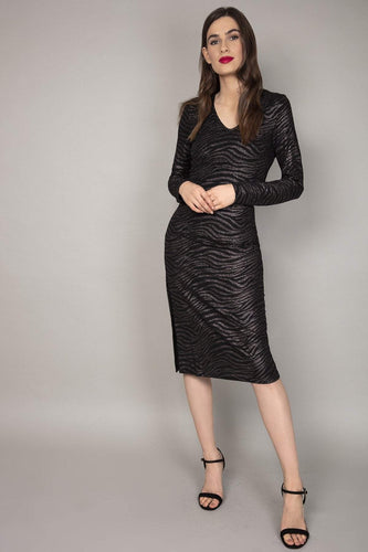 Nova of London Dresses Bronze Glitter Midi Dress