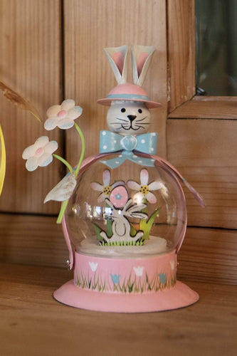 Carraig Donn HOME Easter Decorations Bunny Globe in Pink
