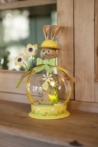 Carraig Donn HOME Easter Decorations Bunny Globe in Yellow