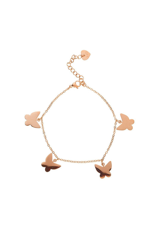 Knight & Day Bracelets Rose Gold Butterfly Bracelet