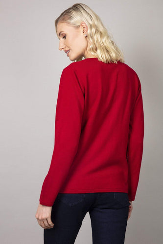 Voulez Vous Cardigans Button Cardigan in Red