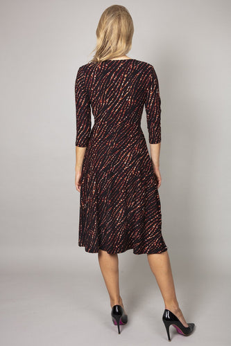 Nova of London Dresses Button Front Dress in Animal Print