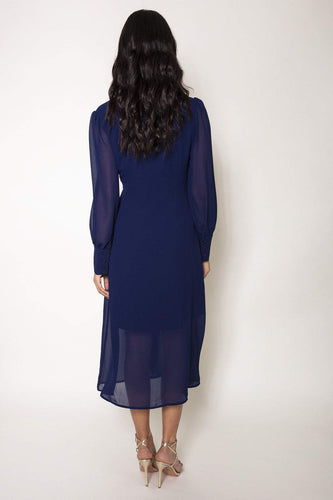 Rowen Avenue Dresses Button Front Dress in Navy