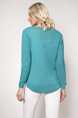 Pala D'oro Jumpers Cable Knit in Tiffany