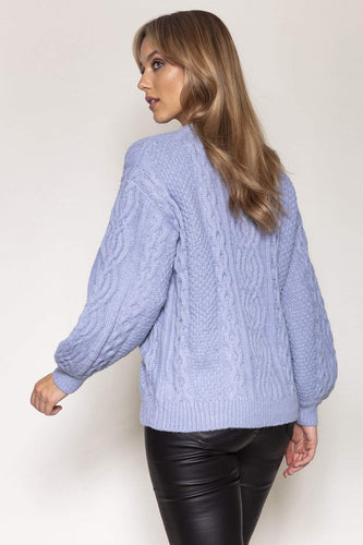 Nova of London Jumpers Cable Knit Jumper in Blue