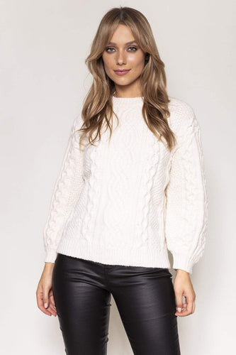 Nova of London Jumpers Ivory / S/M Cable Knit Jumper in Ivory