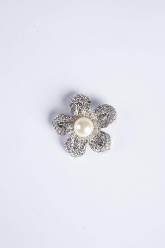Knight & Day Brooches Silver Camelia Brooch