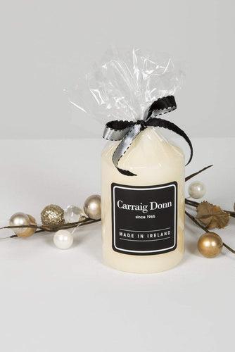 Carraig Donn Home Candles Carraig Donn Pillar Candle 110 x 63mm in Ivory