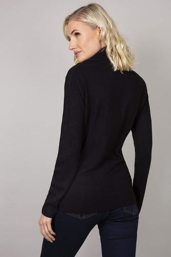 Rowen Avenue Jumpers Cashmilon Roll Neck Jumper in Black