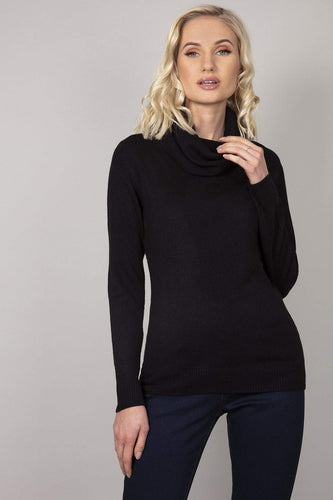 Rowen Avenue Jumpers Black / S Cashmilon Roll Neck Jumper in Black