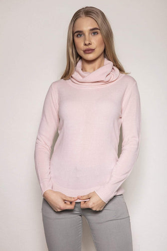 Rowen Avenue Jumpers Pink / S Cashmilon Roll Neck Jumper in Blush