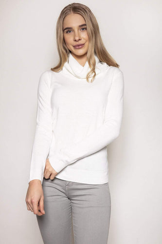 Rowen Avenue Jumpers Ivory / S Cashmilon Roll Neck Jumper in Ivory