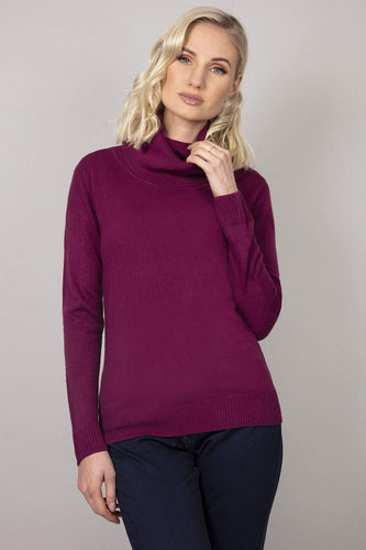 Rowen Avenue Jumpers Purple / S Cashmilon Roll Neck Jumper in Purple