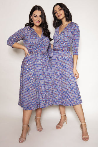 J'aime la Vie Dresses Catriona Dress in Blue Print