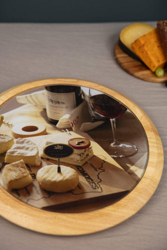 Carraig Donn HOME Cheese Boards Cheese Lazy Susan Glass & Wood