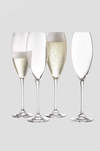 Galway Crystal Glasses Clarity Flute Set of 4