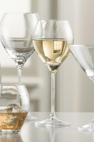 Galway Crystal Glasses Clarity Set of 4 White Wine Glasses