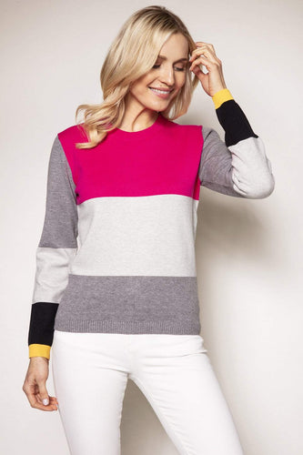 Rowen Avenue Jumpers Colour Block Knit in Pink
