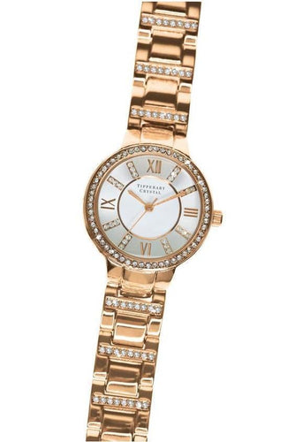 Tipperary Crystal Jewellery Watches Rose Gold Continuance Rose Gold Watch