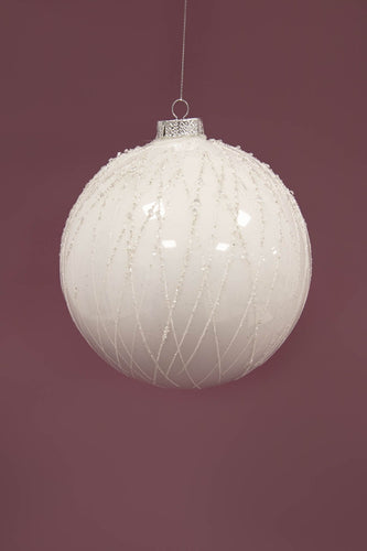 Carraig Donn HOME - Christmas Christmas Tree Decorations Copy of White Segment Bauble