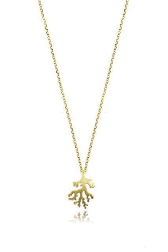 Cherish Necklaces Gold Coral Shape Necklace in Gold