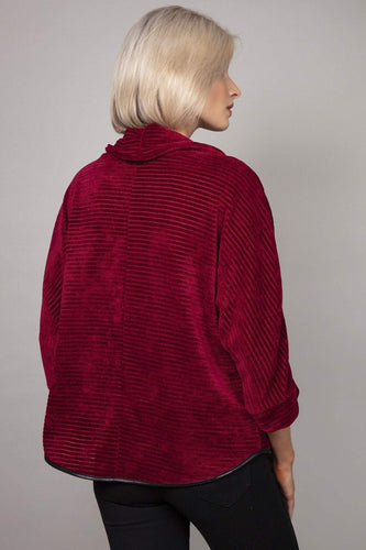 Pala D'oro Jumpers Cowl Neck Jumper in Burgundy