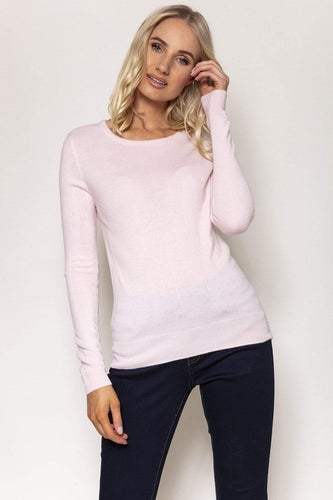 Rowen Avenue Jumpers Pink / S Crew Neck Cashmilon Knit in Blush