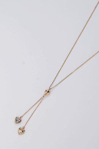 Soul Jewellery Necklaces Gold Crystal Heart Necklace in Gold