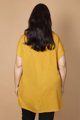 Nova of London Tops Curve - Gem Zig Zag Top in Mustard