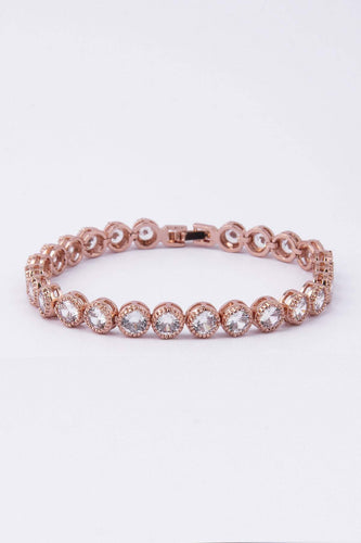 Knight & Day Bracelets Rose Gold Danna Rose Gold Tennis Bracelet