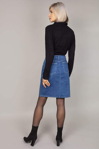 Rowen Avenue Skirts Denim Button Skirt