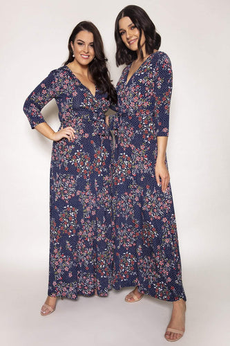 J'aime la Vie Dresses Dervla Dress in Navy Print