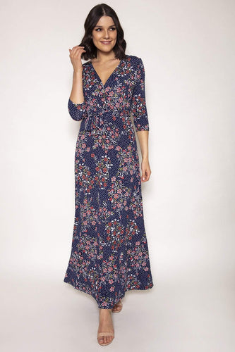J'aime la Vie Dresses Navy / 10 / Maxi Dervla Dress in Navy Print