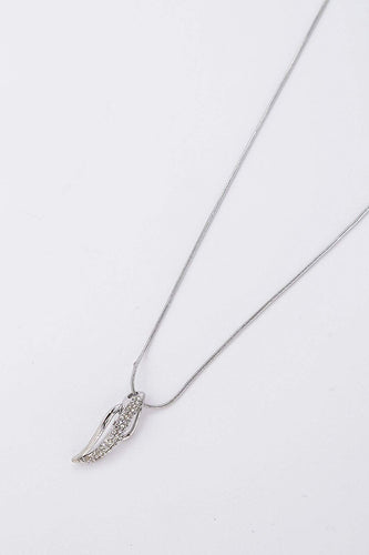 Soul Jewellery Necklaces Silver Diamante Drop Pendant Necklace