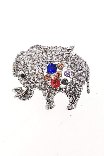 Soul Jewellery Brooches Silver Diamante Elephant Brooch - SOUL Special