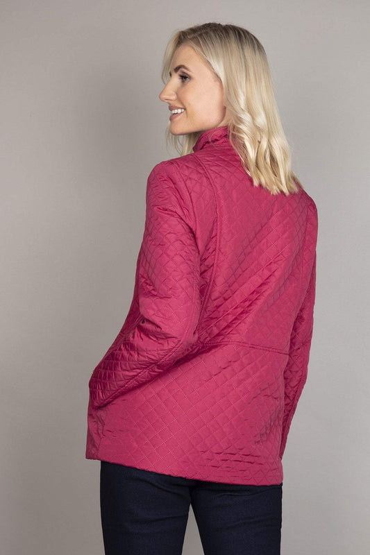 Voulez Vous Jackets Diamond Embossed Jacket in Berry