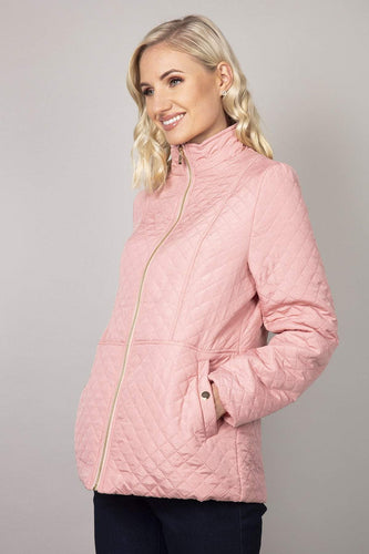 Voulez Vous Jackets Pink / 10 Diamond Embossed Jacket in Soft Pink