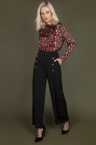 Darling Trousers Divine Sheen Trousers in Black