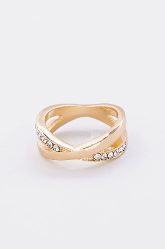 Soul Jewellery Rings Rose Gold Double Circle Diamante Ring in Rose Gold Size 7 - SOUL Special