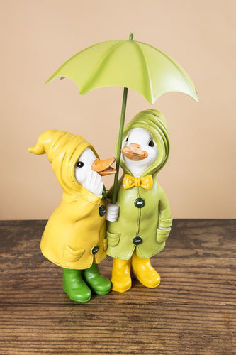 Carraig Donn HOME Ornaments Duck Couple in Green