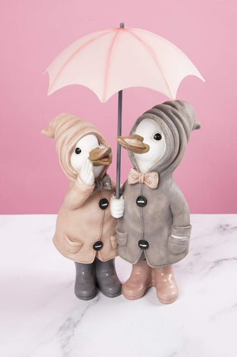 Carraig Donn HOME Ornaments Duck Couple in Pink